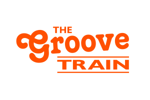 Groove Train Logo white -Orange
