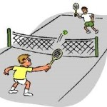 tennis net players